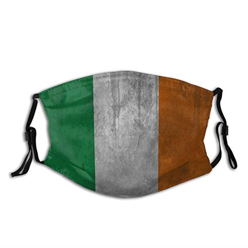 UMBNDFIR Irish Flag Face Cover Neck Gaiter Washable and Reusable Adjustable Dust Masks Cover