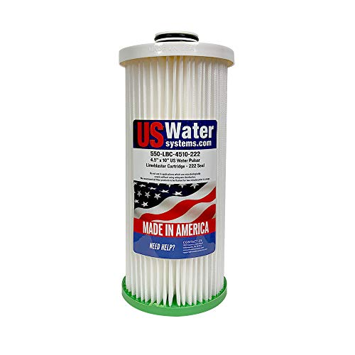 US Water Limeblaster 4.5' x 10' Replacement Cartridge – Water Conditioner Cartridge – Double O-Ring Seal – Easy Install – Safe for Drinking Water