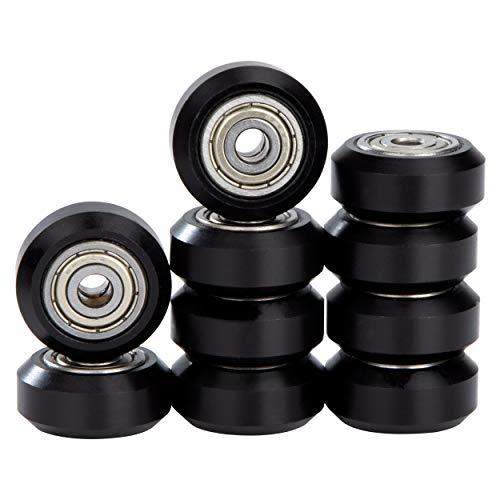 Polea Plástico POM Para Impresora 3D con Rodamiento 625zz Agujero de 5 mm Compatible con Ender 3 Series CR-10 CR-10S Negro 10 piezas