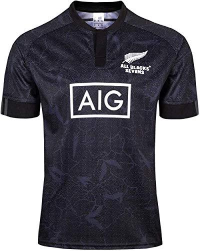 yunge Fußball2020 Neuseeland Maori Weltmeisterschaft Rugby Jersey Herren All Black 7s Heim/Auswärts Fußball T-Shirt Unterstützer T-Shirt Sport Top Fans Sweatshirt-M_Away-3XL_Weg