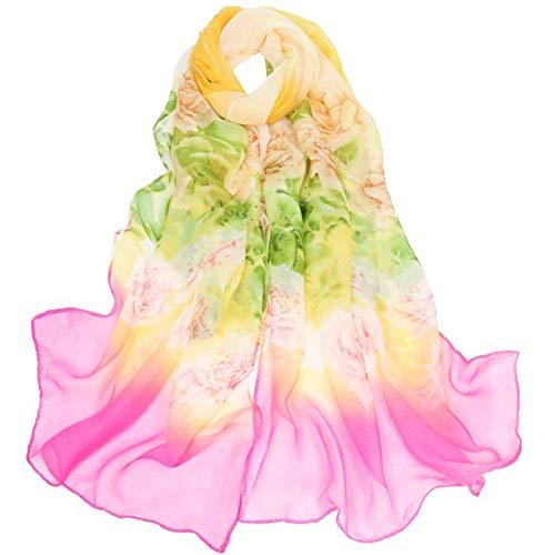 Hmeili Scarf Mode Frauen Big Flora Schal Lang Weich Single Rim Gradual Rim Farbe Wrap Damen Schals Schal In Seasons