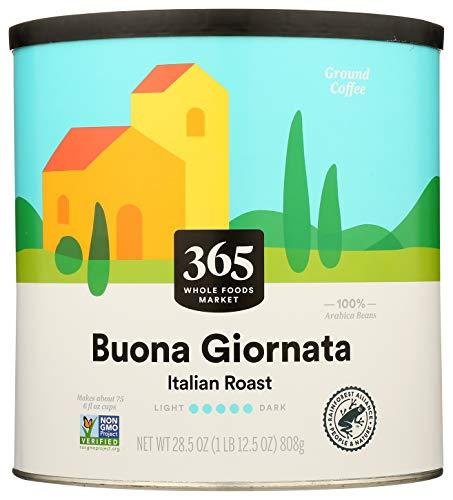 365 by Whole Foods Market Ground Coffee Buona Giornata - Italian Roast Canister 285 Ounce