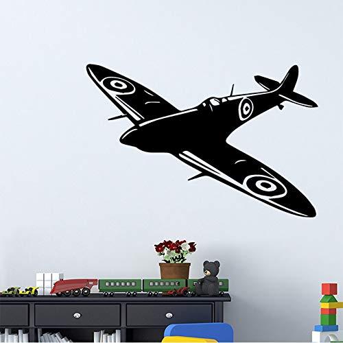 Etiqueta engomada creativa de la pared del avión pegatinas de decoración del hogar para la decoración de la habitación de los niños pegatina Mural pegatinas de pared A6 58x87cm