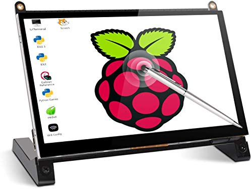 Touchscreen Monitor, EVICIV 7 Inch Portable Raspberry Pi IPS Display 1024X600 HDMI Game Monitor with Built-in Dual Speakers for Raspberry Pi 4 3 2 Zero B+ Model B Xbox PS4 iOS Windows 7/8/10