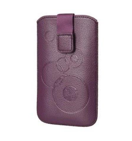 Handytasche Circle violett passend für Motorola Moto G (3.Generation) Handy Schutz Hülle Slim Hülle Cover Etui violett mit Klettverschluss