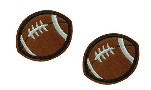 2 Stück AMERICAN FOOTBALL Bügelbild Applikation Motiv Stoff Kinder Sport Aufkleber 2 x 1.6 Zoll (5 x 4 cm)