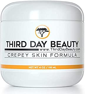 Crepey Skin Formula - Tighten & Firm Dry Mature Skin on Face Neck Chest Arms and Legs Niacinamide Anti-Aging Wrinkle Lotion