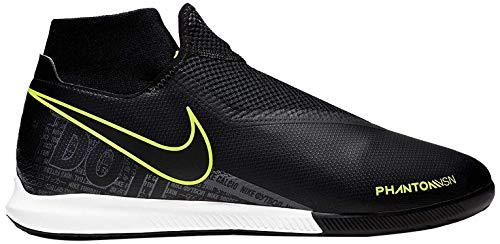 Nike Unisex-Erwachsene Phantom Vision Academy Dynamic Fit Ic Fußballschuhe, Mehrfarbig (Black/Black/Volt 7), 39 EU