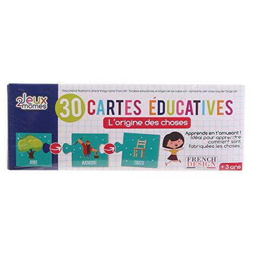 30 Cartes puzzle éducatives L'origine des choses