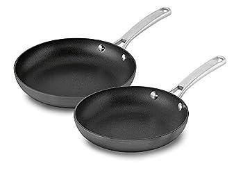 Calphalon 2 Piece Classic Nonstick Frying Pan Set Grey