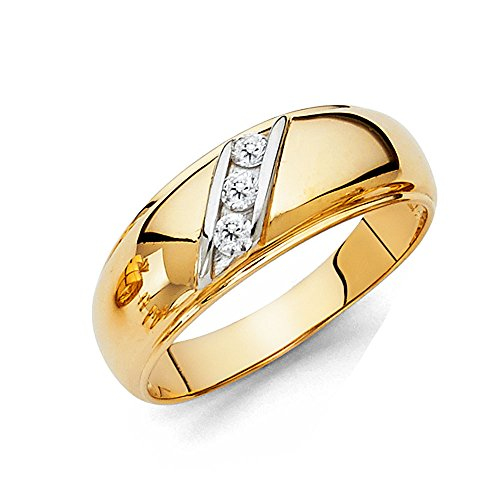 Mens 14k REAL Yellow Gold Wedding Band - Size 9.5 14k Gents Wedding Band