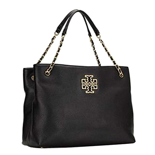 Tory Burch Britten Tripple Compartment Tote Leather TB Logo