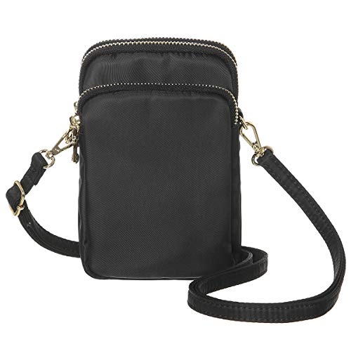 MINICAT Small Crossbody Bags RFID Blocking Card Slots Cell Phone Purse Wallet for Women(Black-RFID Blocking)