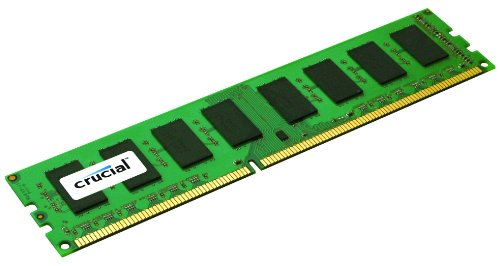 Crucial 4GB Single DDR3 1333 MT/s (PC3-10600) CL9 Unbuffered UDIMM 240-Pin Desktop Memory Module CT51264BA1339