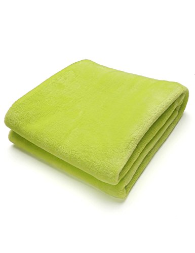 Tiowea warme dikke flanel sofa Throw blankets op bed Home sprei 50X70CM groen