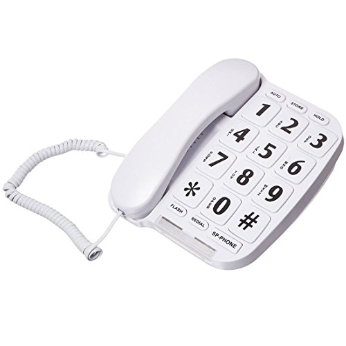 ZeroTone Big Button Corded Phone for Elderly with Redial and Handsfree Speaker Phone