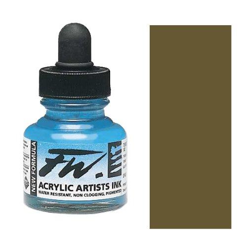 Fw artistes utilisant l'acrylique 1 Oz Antilope d'encre Marron