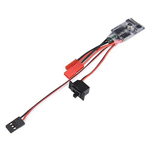 Annjom Leichter elektronischer Geschwindigkeitsregler, sicher, kompakt, langlebig, bidirektional, gebürstet, für RC-Zubehör