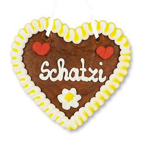 Lebkuchenherz 12cm - Schatzi - Geschenk zum Valentinstag für Genießer