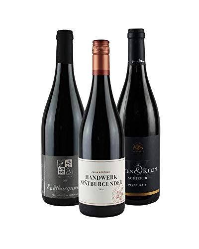 RHEIN AHR WEIN Weinpaket AHR-SPÄTBURGUNDER (3x 0,75l), Probierpaket, Pinot Noir von 3 prämierten Ahr-Winzern zum genießen oder verschenken! …