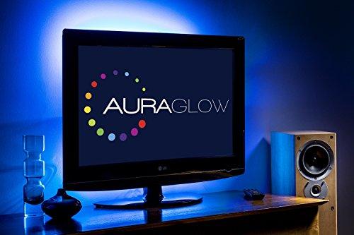 Auraglow LED-Streifen/Hintergrundbeleuchtung mit Farbänderung Entertainment Beleuchtung für TV LCD Desktop-PC 5v LED Lichtleisten USB LED Streifen Nachtlicht LED Lichtband - 50 cm