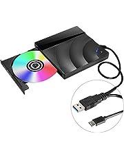 [2019最新版] Karsspor USB 3.0外付け DVD ドライブ DVD プレイヤー ポータブルドライブ CD/DVD読取?書込