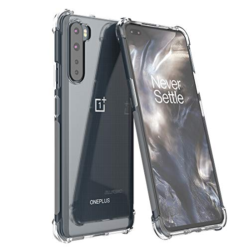 Foluu Oneplus Nord 5G Case, Oneplus Nord 5G Phone Case Clear, Scratch Resistant TPU Rubber Soft Skin Silicone Protective Case Cover for Oneplus Nord 5G 2020(Crystal Clear)