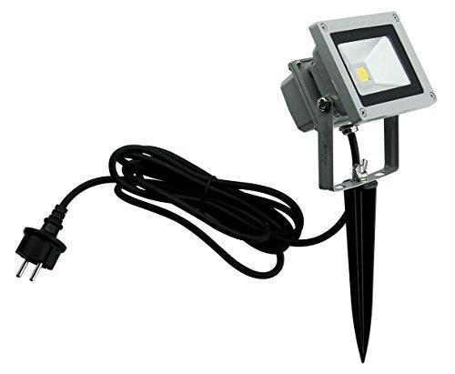 Trango 10 Watt IP65 LED Gartenstrahler Strahler TG3085 Außenstrahler Teichstrahler Sicherheitstrahler 6000K Außenleuchte Wandleuchte Wegbeleuchtung