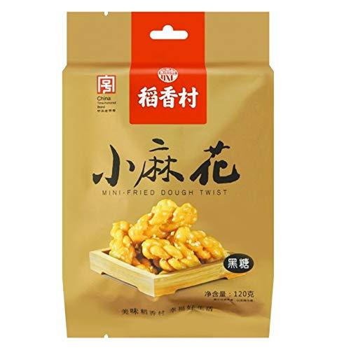 稻香春小麻花 Mini Fried Dough Twist 120g (Brown Sugar, 3 Packs)