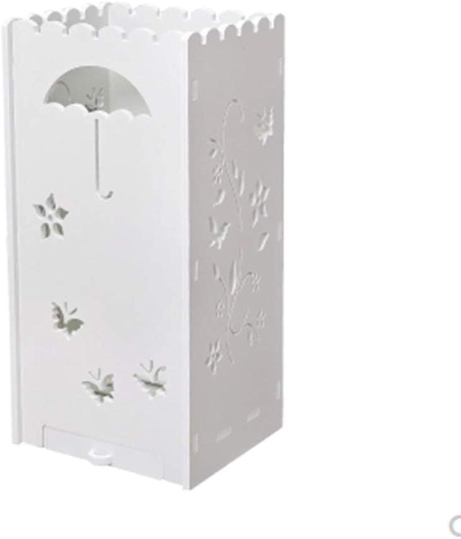 Umbrella Stand Home Convenience Store Wood Plastic Panel Drain Sink Umbrella Storage Rack (color   A)