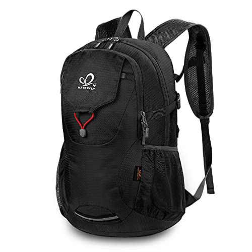 WATERFLY Travel Hiking Backpack 40L: Packable Lightweight Water Resistant Bag with Adjustable Chest Strap for Hiking Climbing Biking Trekking Accessory Camping Gear Beach Daypack