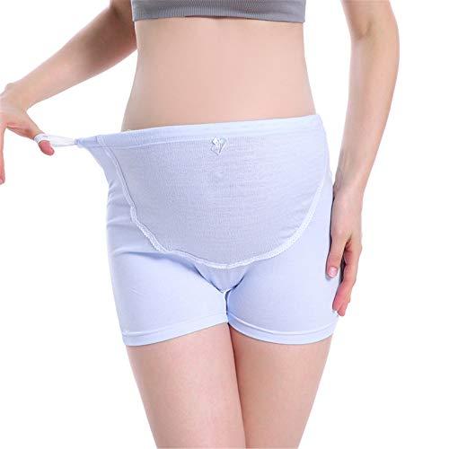 Secret night La Ropa Interior De Las Mujeres para Las Mujeres Embarazadas Alta Cintura Más Tamaño Ajustable Pantalones Cortos De Maternidad,Azul,L