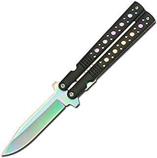 TAC Force Assisted Opening Black Handle Rescue Folder Half Stainless Steel