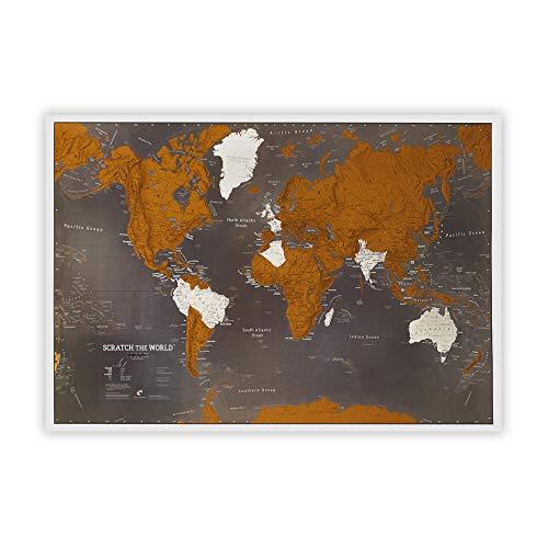 Weltkarte zum Rubbeln - Schwarz