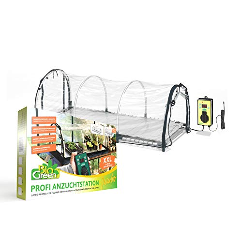 Bio Green Jumbo Aufzuchthaus beheizt & Thermostatgesteuert L: 130cm x B: 60cm x H: 50cm - 150 W