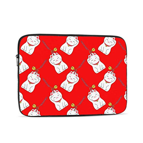 MacBook Pro A1989 Case Maneki Neko Lucky Fortunate Welcome Cat MacBook Pro 2017 Cover Multi-Color & Size Choices10/12/13/15/17 Inch Computer Tablet Briefcase Carrying Bag