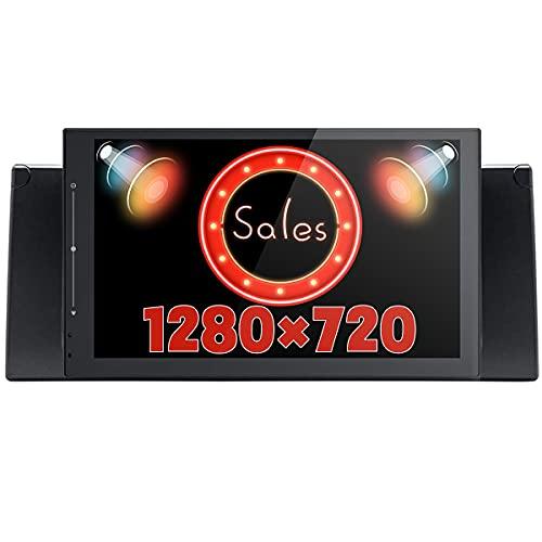 JOYFORWA Android 8.1 4 GB + 64 GB autoradio Navigazione satellitare GPS da 9 pollici con DSP/Android Auto/Tronco veloce / 1280 × 720 / Controllo del volante per BMW Serie 5 E39 E53