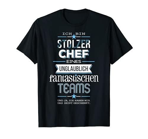 Herren Stolzer Chef eines fantastischen Teams - dunkle Shirts