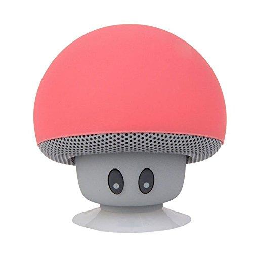NUOLUX Mini en Forme de Champignon Enceinte Bluetooth Ventouse téléphone Portable Tablette PC (Pastèque)