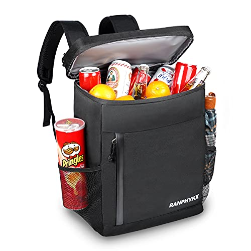 Cooler Backpack, Ranphykx Soft Cooler Bag 45 Cans Large Capacity Leakproof Backpack Cooler Lightweight Insulated Cooler for Men Women to Picnics Camping Hiking Beach Park