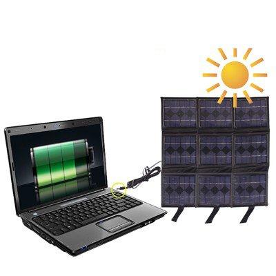 Luoshan Portable 9X 2.5 W Panel Solar-Cargadores de batería multifuncionales, Puede Cargar PC con Enchufe DC
