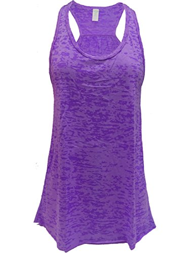 Epic MMA Gear Flowy Racerback Tank Top, Burnout Colors, Regular and Plus Sizes (4XL, Purple)