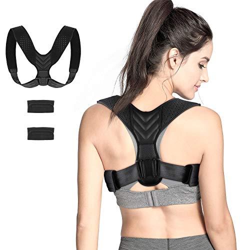 Gifort Haltungskorrektur, Haltungstrainer Geradehalter für Rücken Nacken Schulter Rückenstütze Rückenbandage Rückentrainer Rückenstabilisator für Gesunde Haltung, Damen und Herren-Größenverstellbar
