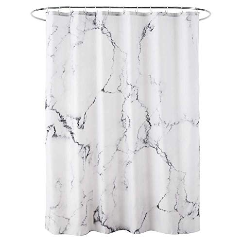 Douchegordijn Marble Printed Bath Curtain Thicken Polyester Waterdicht Partition (Color : 180x200cm, Size : White)