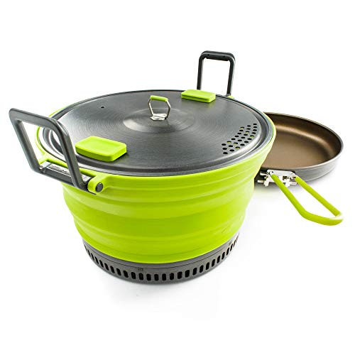 GSI Outdoors, Escape 3L Pot + Frypan, Green