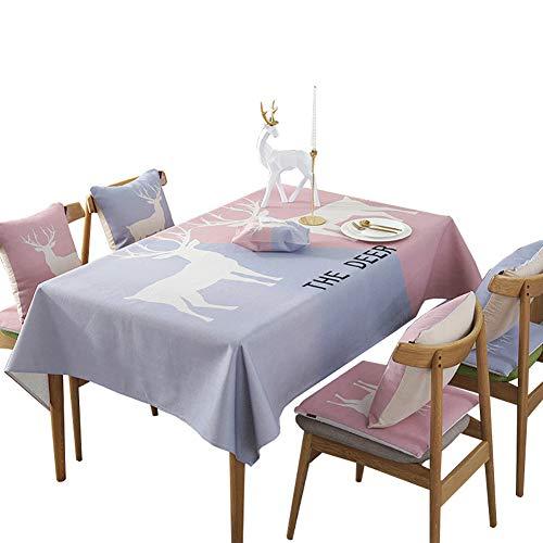 Tissu de table rectangulaire tissu polyester Grande nappe carrée pour la table de buffet, Très jolie décoration pour, Repas de fête, Mariage & plus-A 110x170cm(43x67inch)