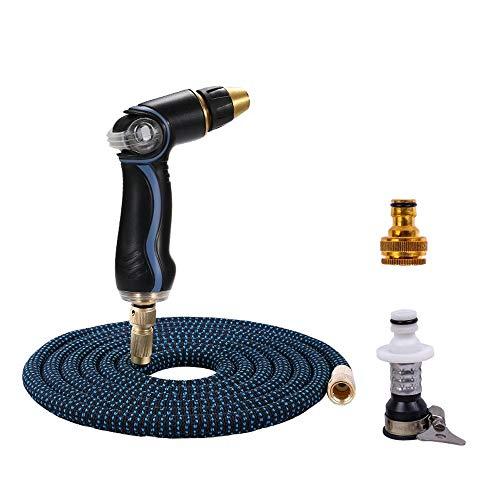 YYDD Extra starker Stoff, große Menge an Wasser-Hochdruck-Wasserpistole, leichter Gartenschlauch, erweiterbar, langlebig, knickfrei, flexible Gartenwasserleitung (Größe : A)