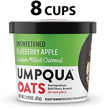 8-Count Umpqua Oats All Natural Oatmeal Cups, Unsweetened Blueberry Apple