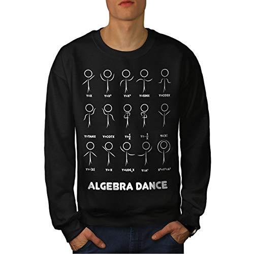 wellcoda Algebra Mathematik Tanzen Männer Sweatshirt Nerds Lässiger Pullover