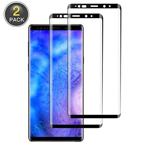 Wiestoung Samsung Galaxy Note 9 Protection Écran Verre Trempé, [2 pièces] Anti-Rayures,Dureté 9H,HD Transparence, sans Bulles Couverture Complète Film Protecteur Vitre pour Samsung Galaxy Note 9